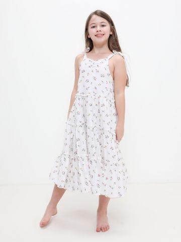 שמלת קומות בהדפס פרחים של FOX
