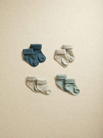 מארז 4 זוגות גרביים עם קיפול של MANGO