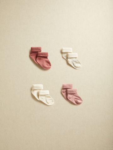מארז 4 זוגות גרביים ריב / בייבי בנות של MANGO