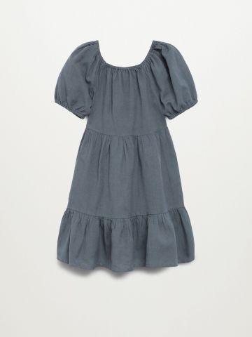 שמלת קומות בשילוב פשתן / בנות של MANGO