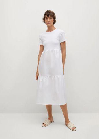 שמלת טי שירט קומות של MANGO