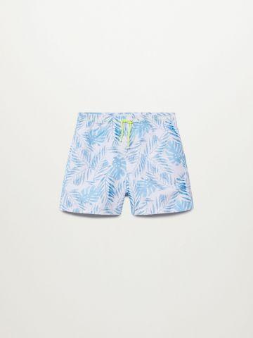 מכנסי בגד ים בהדפס עלים / בנים של MANGO