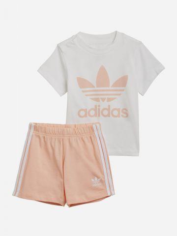סט חולצה ומכנסיים עם לוגו / 0-4Y של ADIDAS Originals