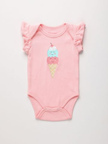 בגד גוף עם הדפס גלידה בשילוב מלמלה / 0M-2Y של THE CHILDREN'S PLACE