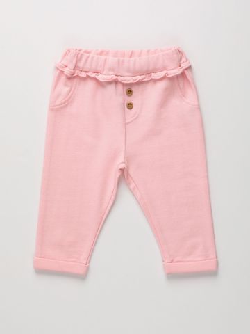מכנסיים ארוכים בשילוב מלמלה / 0M-2Y של THE CHILDREN'S PLACE