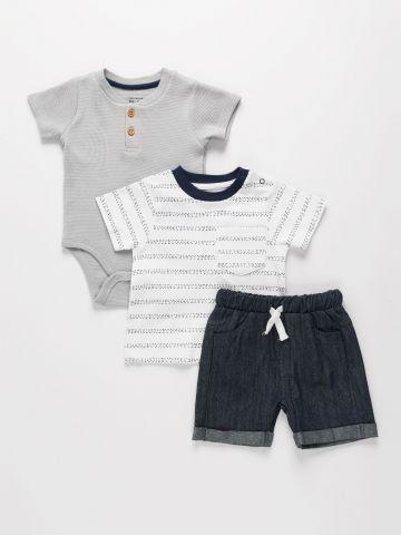 מארז חולצה, מכנסיים ובגד גוף / 0-2Y של THE CHILDREN'S PLACE