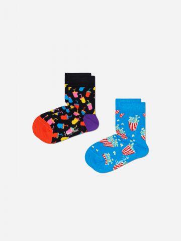 מארז 2 זוגות גרביים בצבעים שונים / 12M-6Y של HAPPY SOCKS