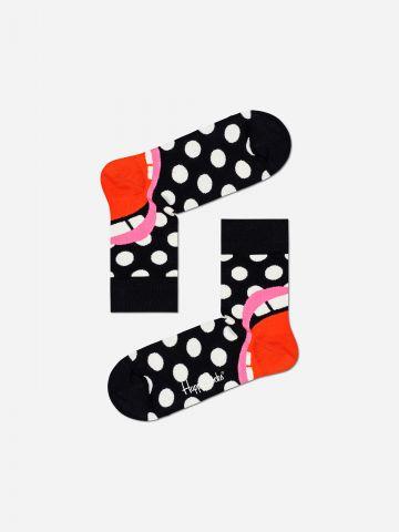 גרביים גבוהים בדוגמת נקודות / נשים של HAPPY SOCKS
