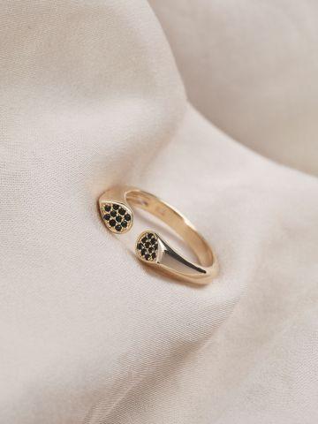 טבעת אליס ציפוי זהב של LUX