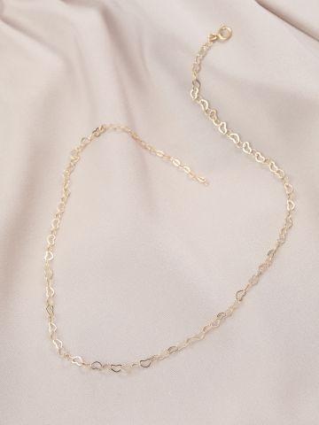 שרשרת חוליות לאב ציפוי זהב של LUX
