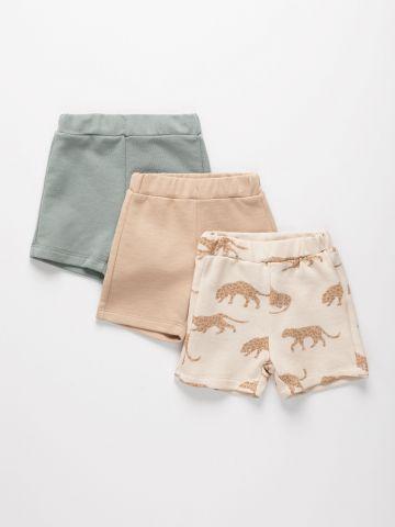 מארז 3 מכנסי פרנץ' טרי בהדפסים שונים / 3M-6Y של TERMINAL X KIDS