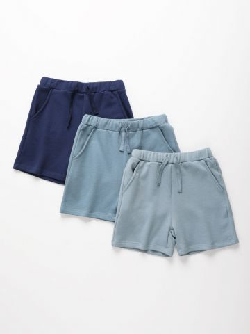 מארז 3 מכנסיים קצרים פרנץ' טרי בצבעים שונים / 3M-8Y של TERMINAL X KIDS
