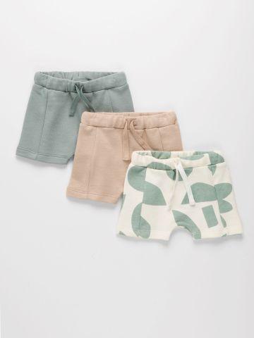 מארז 3 מכנסיים פרנץ' טרי בהדפסים שונים / 3M-4Y של TERMINAL X KIDS