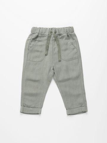 מכנסי פשתן בסיומת קיפול / 6M-4Y של TERMINAL X KIDS