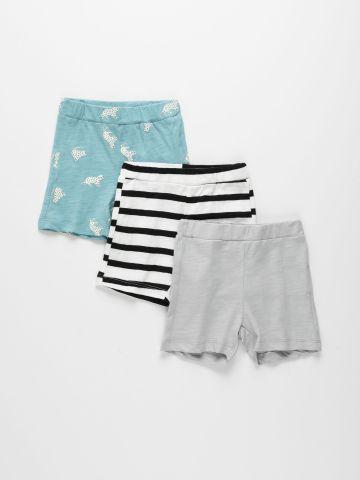 מארז 3 מכנסיים קצרים מבד דק / 0-2Y של TERMINAL X KIDS