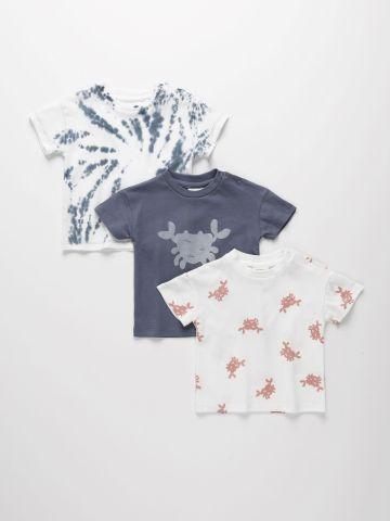 מארז 3 חולצות טי שירט בהדפסים שונים / 3M-4Y של TERMINAL X KIDS