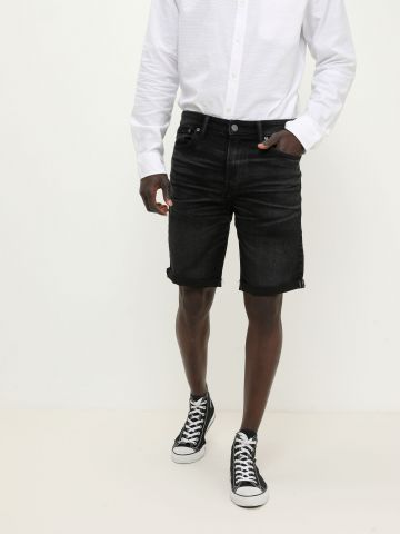 ג'ינס קצר ווש עם כיווצים של AMERICAN EAGLE