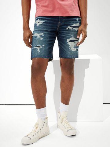ג'ינס קצר ווש עם קרעים של AMERICAN EAGLE