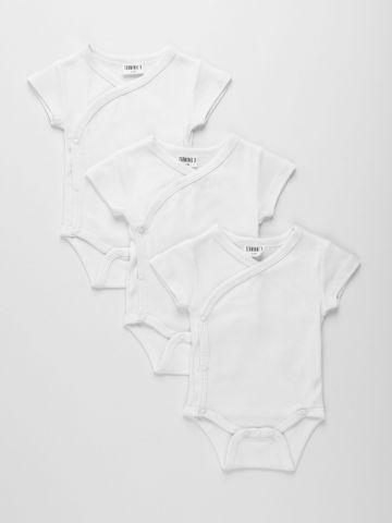 מארז 3 בגדי גוף מעטפת / 0M-12M של TERMINAL X KIDS