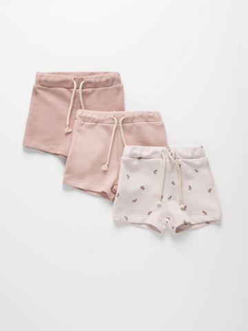 מארז 3 מכנסי פרנץ' טרי בצבעים שונים / 3M-8Y של TERMINAL X KIDS