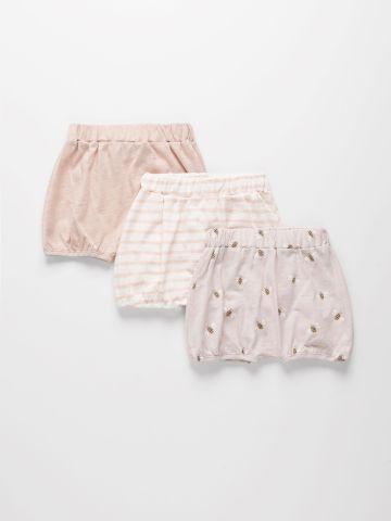 מארז 3 מכנסי בייבי קצרים מבד דק  / 0M-2Y של TERMINAL X KIDS