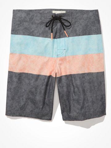 מכנס בגד ים עם הדפס פסים ווש / גברים של AMERICAN EAGLE