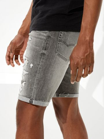 ג'ינס ווש עם קרעים של AMERICAN EAGLE