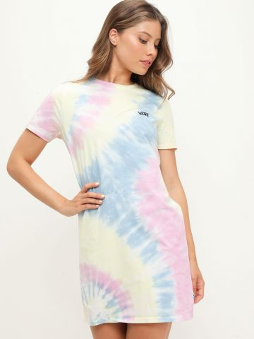 שמלת טי שירט בהדפס טאי דאי ולוגו של VANS