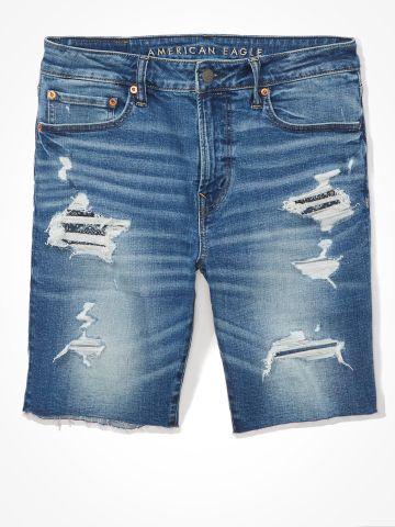 ג'ינס קצר עם קרעים ווש / גברים של AMERICAN EAGLE