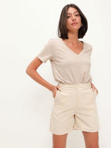 מכנסיים קצרים מחויטים של TERMINAL X