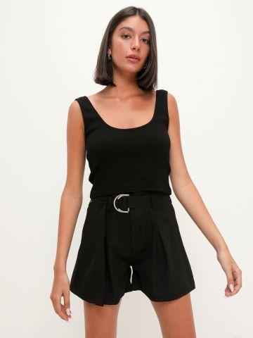 מכנסי פייפרבאג קצרים עם חגורה של TERMINAL X