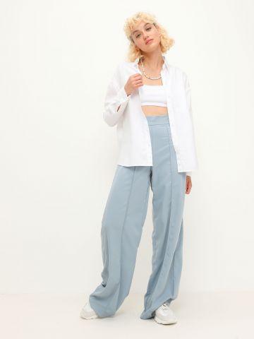 מכנסיים מחוייטים עם תפרים מודגשים של TERMINAL X