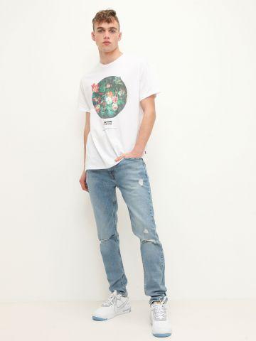 ג'ינס בגזרת סלים עם קרעים 512 SLIM TAPER של LEVIS