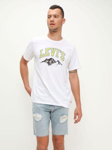 ג'ינס קצר ווש עם קרעים של LEVIS