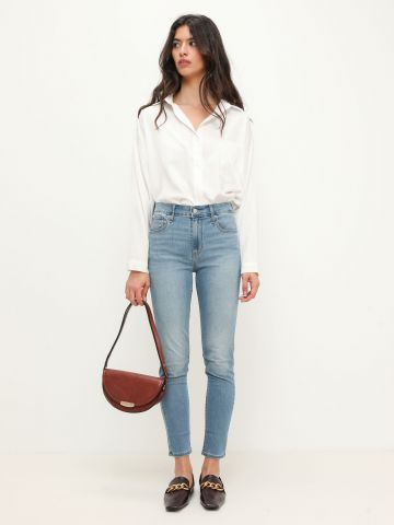 ג'ינס סקיני בגזרה גבוהה HI RISE SKINNY ANKL 721 של LEVIS
