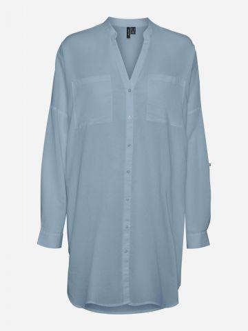 חולצת טוניקה מכופתרת / נשים של VERO MODA