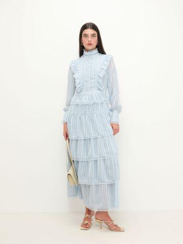 שמלה בהדפס פסים בסגנון קומות של VERO MODA