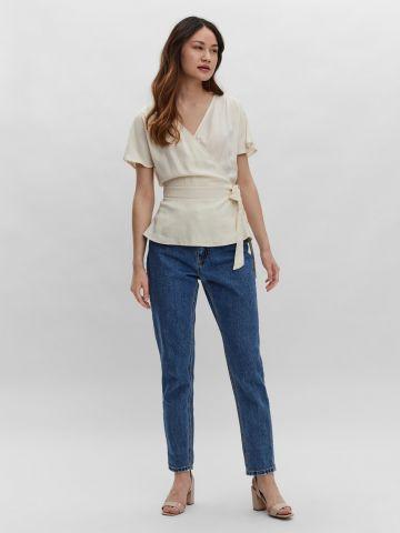 חולצת מעטפת עם שרוך קשירה של VERO MODA