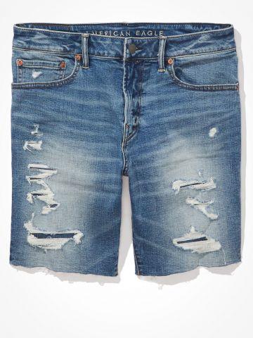 ג'ינס קצר ווש עם קרעים Destroy athltic move / גברים של AMERICAN EAGLE