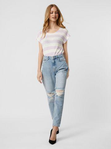 ג'ינס ארוך עם קרעים של VERO MODA