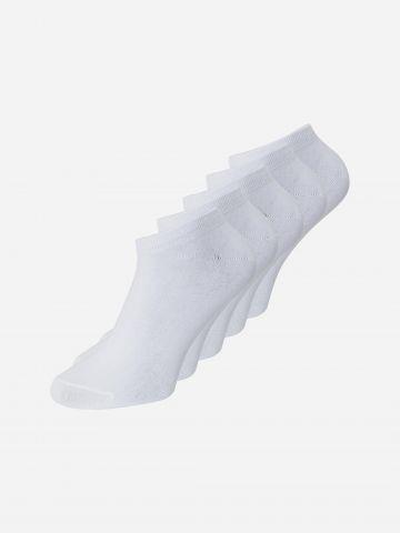 מארז 5 זוגות גרביים נמוכים / גברים של JACK AND JONES