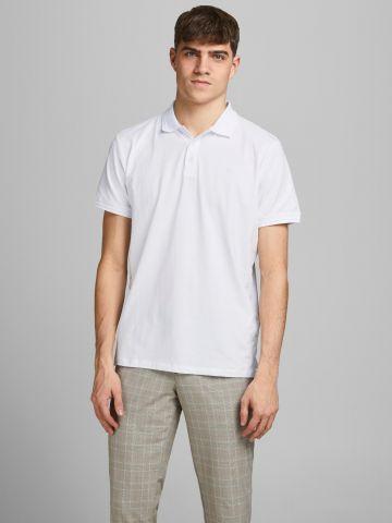 חולצת פולו עם רקמת לוגו של JACK AND JONES