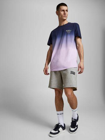 מכנסי טרנינג מלאנז' עם לוגו של JACK AND JONES