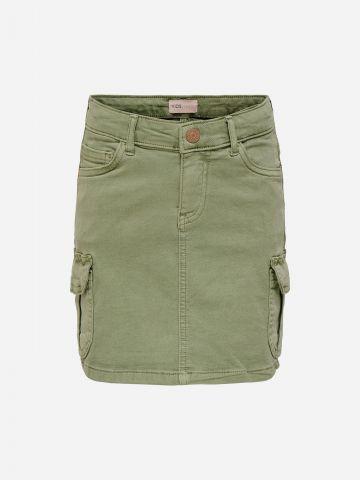 חצאית בסגנון קרגו / בנות של KIDS ONLY