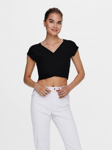 חולצת קרופ מעטפת / נשים של ONLY