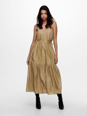 שמלת מקסי קומות עם קשירה של ONLY
