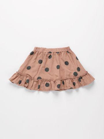 חצאית פשתן בהדפס נקודות / 6M-10Y של TERMINAL X KIDS