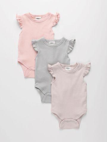 מארז 3 בגדי גוף בשילוב מלמלה / 0M-2Y של TERMINAL X KIDS