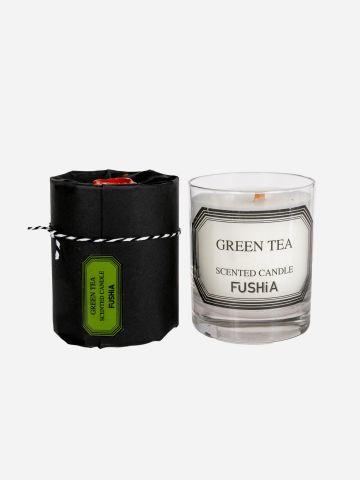 נר ריחני תה ירוק של FUSHIA