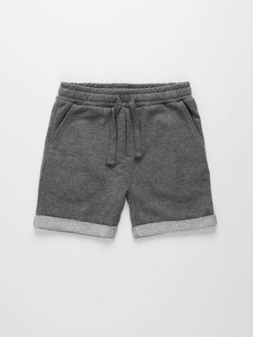 מכנסי טרנינג קצרים מלאנז' בסיומת קיפול / 6M-4Y של THE CHILDREN'S PLACE